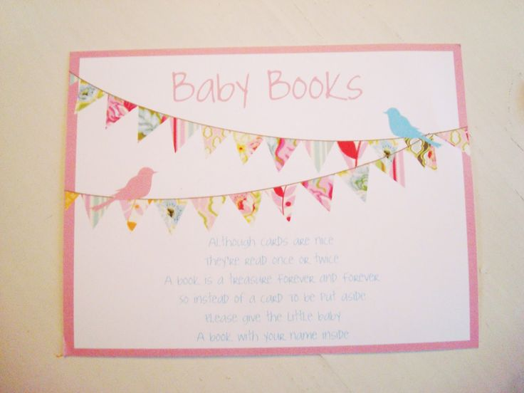 Poems For Book Themed Baby Shower Invitations | ... Guest To Bring A Baby