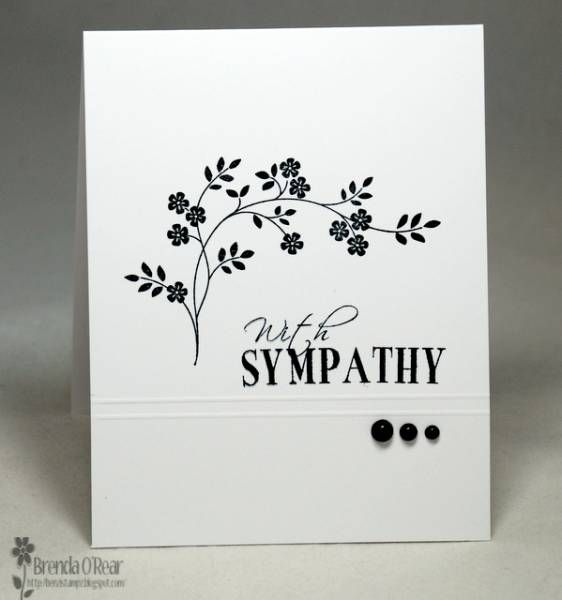 Card Making Ideas Sympathy Part - 24: Hanmade Card: Simple Sympathy ... One Layer ... Black And White