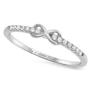 This Perfect 1.9TCW Russian Lab Diamond Infinity Ring is styled with details to sparkle and stay classic through the tests of time. This is a very popular and stylish addition to every woman's wardrob