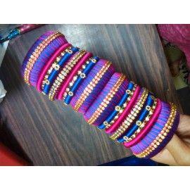 Bangle set made of silk thread-85