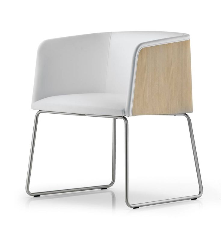 Allure 737 is a design chair with upholstered seat. Different fabrics and colours are available. Steel tube frame, sled version.