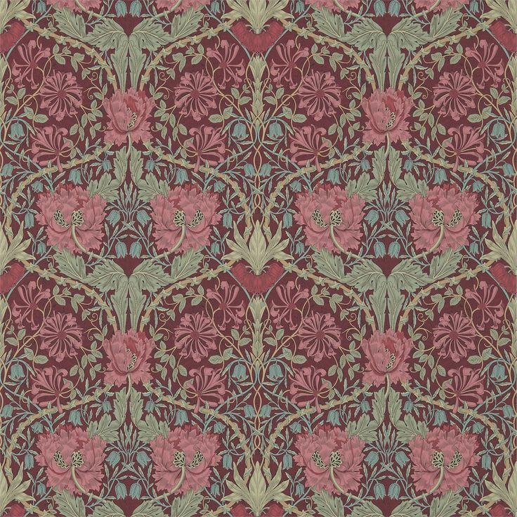 The Original Morris & Co - Arts and crafts, fabrics and wallpaper designs by William Morris & Company | Products | British/UK Fabrics and Wallpapers | Honeysuckle & Tulip (DM3W214703) | Archive III Wallpapers