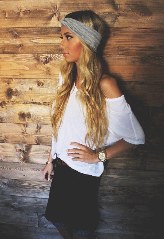 Turban Headband Heather Grey Hair Accessories by Holdensmaaa