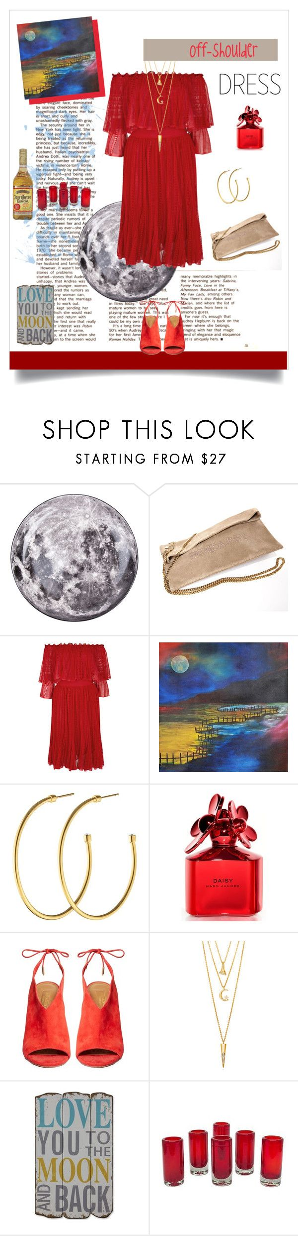 """""""κόκκινο φεγγάρι, θάλασσες τεκίλα"""" by xanthik ❤ liked on Polyvore featuring Seletti, Patrizia Pepe, Alexander McQueen, NOVICA, Dyrberg/Kern, Marc Jacobs, Aquazzura, BERRICLE and Creative Co-op"""