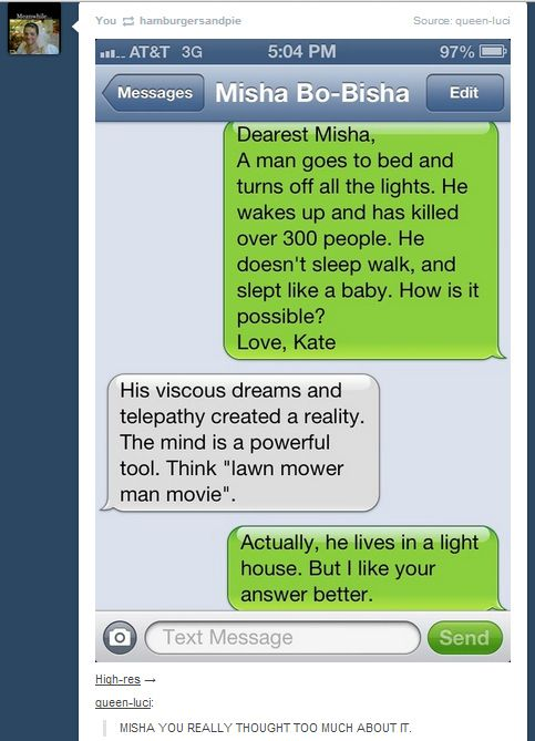 So Yesterday Misha Collins Gave Out His Number On Twitter <3 Misha