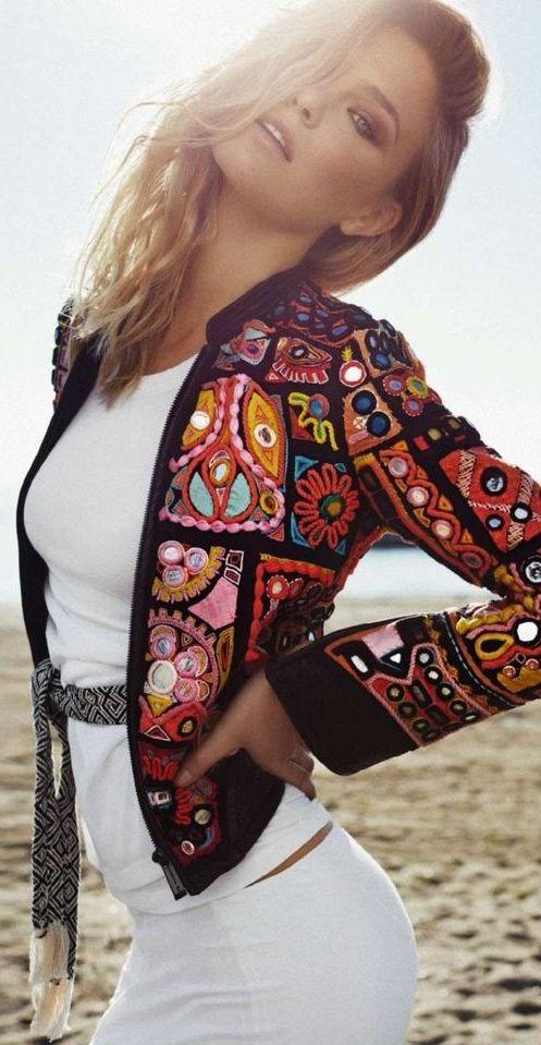 ☮ Bohemian Style ☮ Bar Refaeli by Xavi Gordo for Elle Spain March 2015