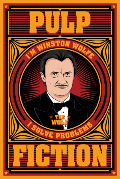 Pulp Fiction: The Wolf by MarkItZeroNET.deviantart.com on @deviantART