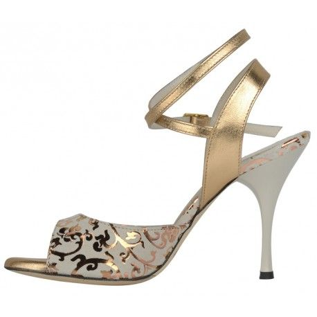 a1 cl camoscio beige laminato rame | Tango Shoes Greece