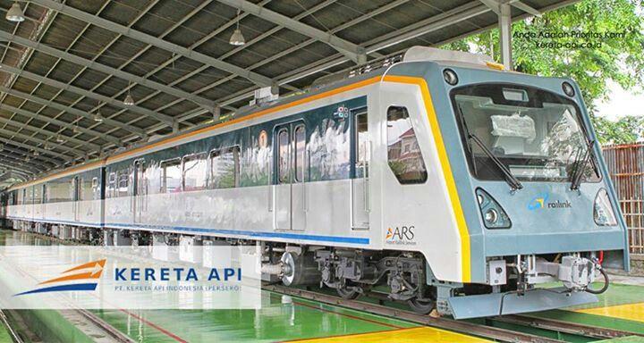 Train between Kuala Namu Airport and Medan City