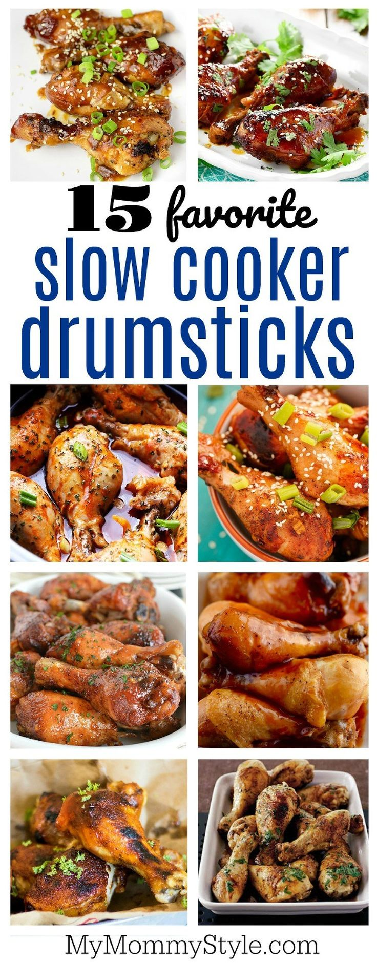 15 family favorite slow cooker drumsticks recipes, these would work in a slow cooker too, just cut the time down!