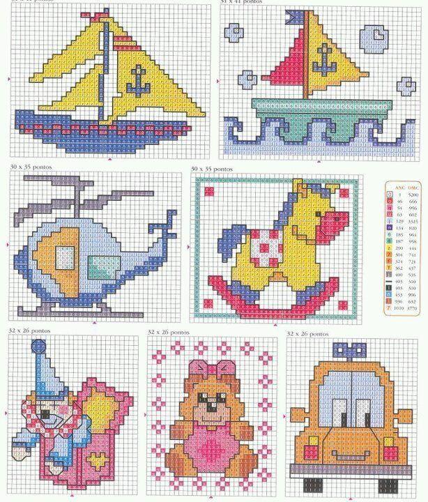 57 best punto de cruz images on Pinterest | Cross stitch baby, Cross ...