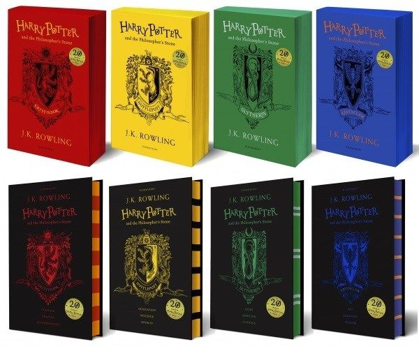 Guess what guys? There are new 20th Anniversary Editions of Harry Potter and the Philosopher's Stone! They are in each Hogwarts House: Gryffindor, Hufflepuff, Slytherin, and Ravenclaw, and availabl…