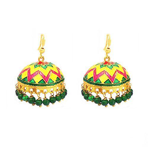 Designer Multicolor Tokri Jhumki @249/-