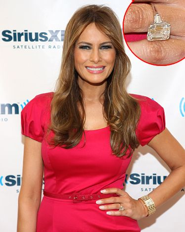 Jewelry experts estimate Donald Trump presented Melania Trump with a ring between 12-15 carats in 2004.