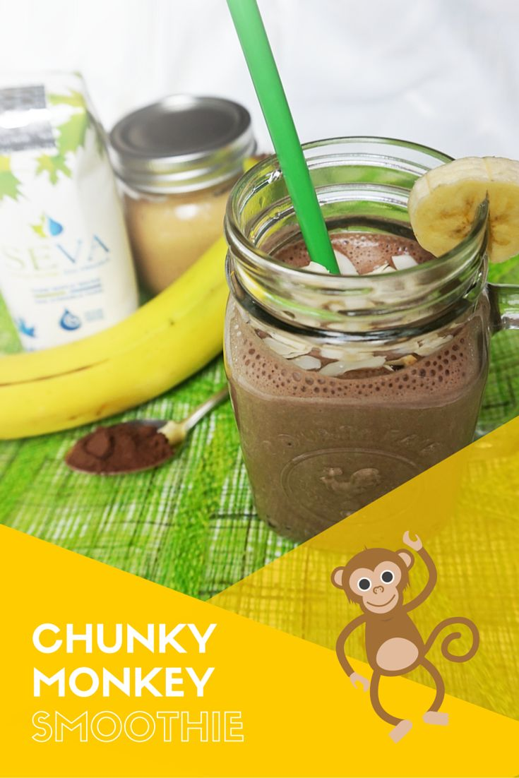 The perfect party of chocolate, bananas, nut butter, maple water, and almond milk. This Chunky Monkey Maple Smoothie is a vegan's sweet dream!