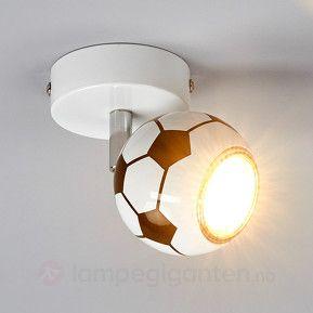 Veggspott med LED Play i fotball-design