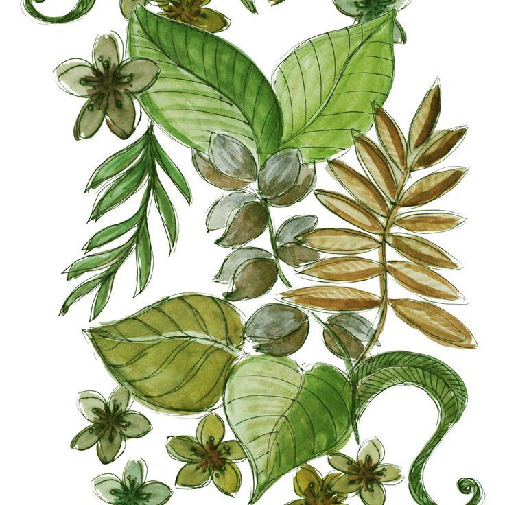 Java Grön Tyg