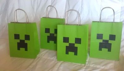 Minecraft Party Favor Bags 12+1 Bonus on eBay!