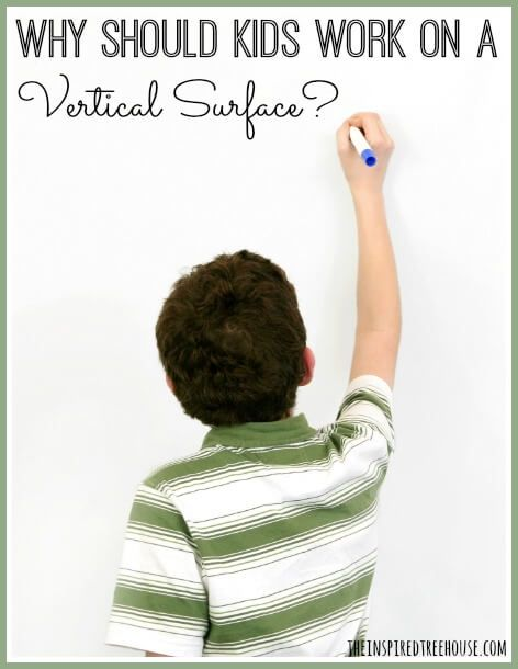 Working on a vertical surface helps develop so many skills for children. Find out what those are and creative ways to keep kids engaged with this intervention.