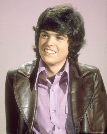Donny Osmond... and in his favourite colour.... purple.... I used to adore him.... until I heard him much later in life dissing overweight women... Childhood adoration gone!
