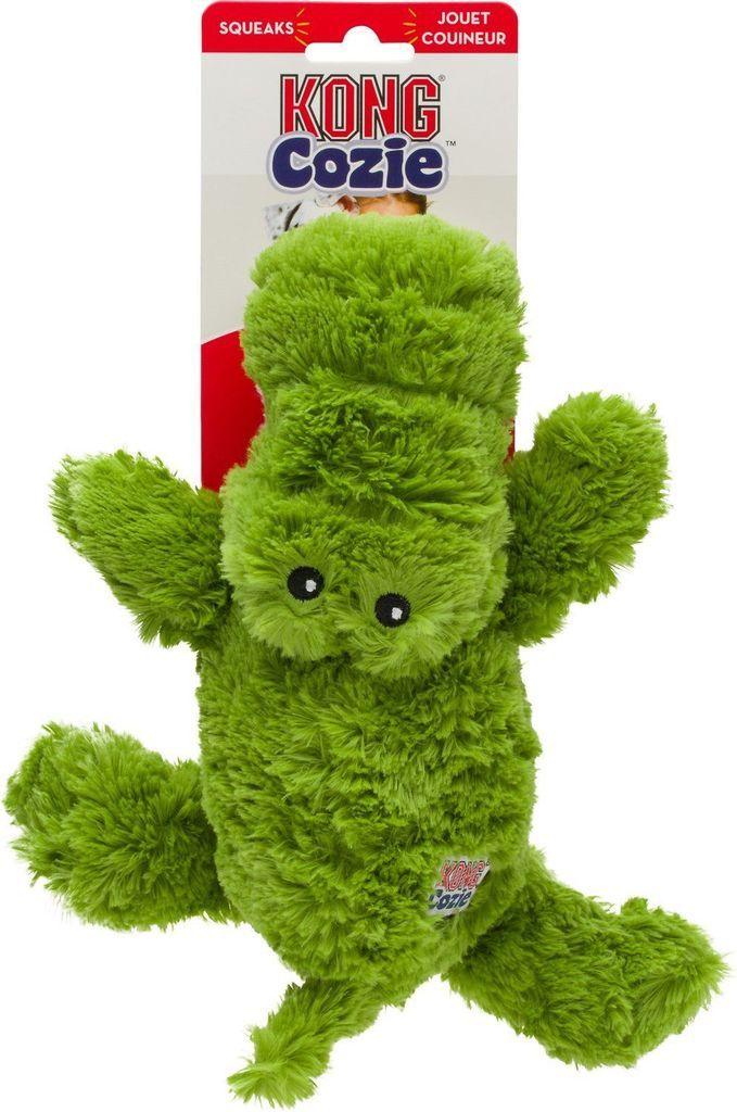 Kong Cross Knots Plush Squeaky Lion Dog Toy Medium Large You