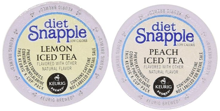 20 Count - Diet Snapple K Cup Variety Pack (10 Diet Snapple Peach Iced Tea, 10 Diet Snapple Lemon Iced Tea) ** Additional details at the pin image, click it  : K Cups