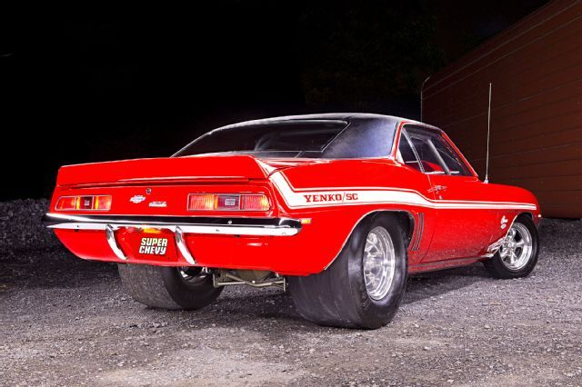 1969 Red Yenko Camaro Pro Street Big Block Rear View