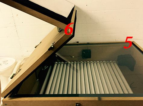 boîte à lumière UV à la manière d'une photocopieuse