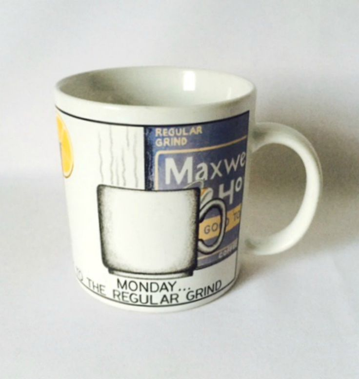 Maxwell+House+Coffee+Cup+Back+to+the+Regular+Grind+Monday+Mug