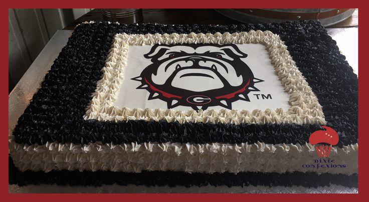 UGA Bulldog Cookie Cake, University of Georgia Cake