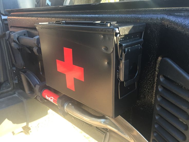 Ammo box first aid kit jeep