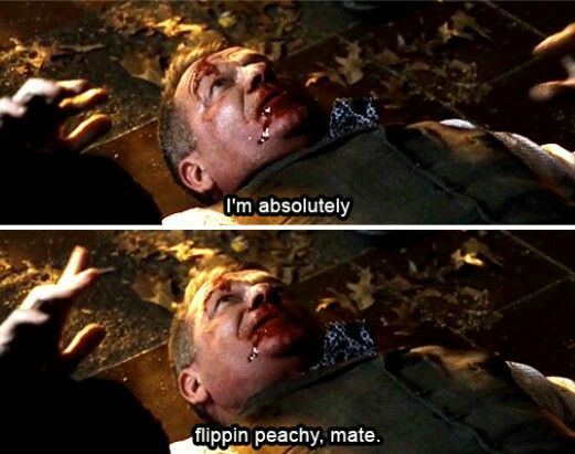 """""""I'm absolutely flippin peachy, mate"""" - Alfred #Gotham"""