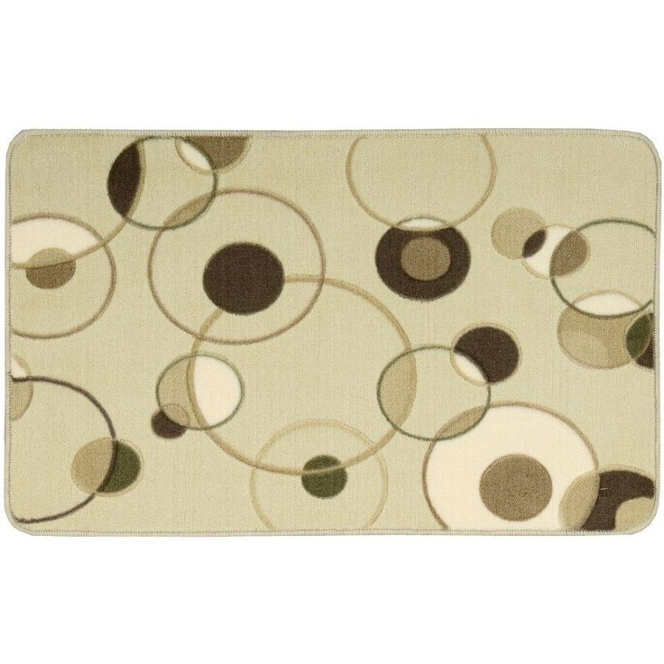 """Nourison Accent Decor Beige Rug (1'8 x 2'6) (1'8"""" x 2'6""""), Brown, Size 2' x 3' (Acrylic, Abstract)"""