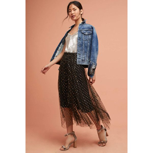 Eva Franco Zelda Metallic Skirt ($148) ❤ liked on Polyvore featuring skirts, black motif, lace overlay skirt, eva franco, eva franco skirt and metallic skirt