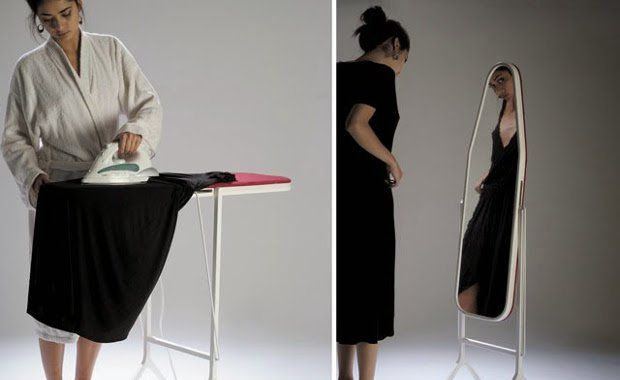 Amazing Inventions Ironing Board Mirror  | www.piclectica.com #piclectica