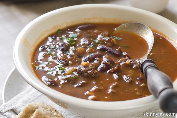 Crockpot Fiesta Beef Soup- all the flavors of a chili, but lighter like in a soup;). #crockpotsoup #crockpotchili #crockpotbeef