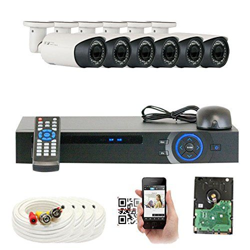 Great system from GW Security. 8CH DVR Security Camera System with 1TB Hard Drive. Includes 8 Outdoor CCTV Cameras with IP66 Weather-Proof Housing and Motion Detection. Video quality is 1080P with 82' of night vision and variable zoom
