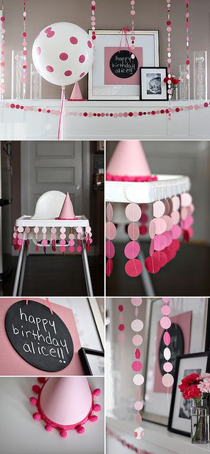 justbellablog // ombre polka dots on the high chair for 1st birthday!
