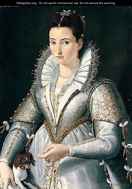 Portrait of a lady - Santi Di Tito 1580s