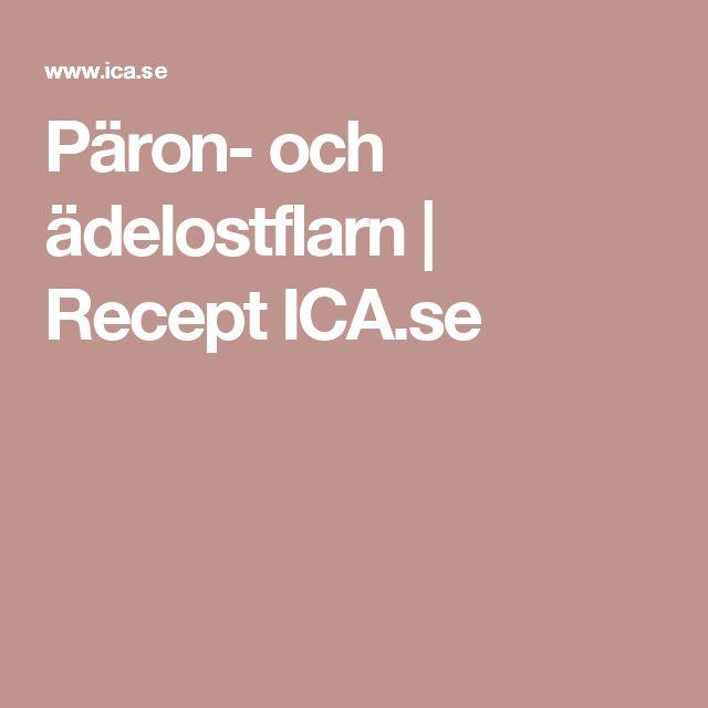 Päron- och ädelostflarn | Recept ICA.se