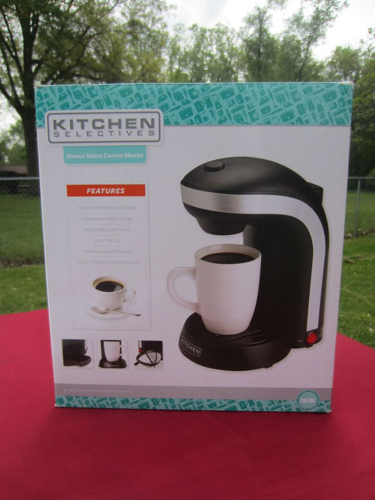 Kitchen Selectives CM-688 1 Cup Drip Single Serve Coffee Maker - Black With Cup #KitchenSelectives