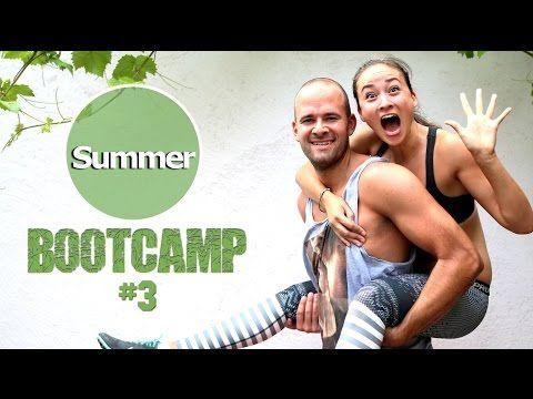 20 Min Workout zum Fett verbrennen - Dünne Oberschenkel und straffe Arme - Sommer Bootcamp #4 - YouTube
