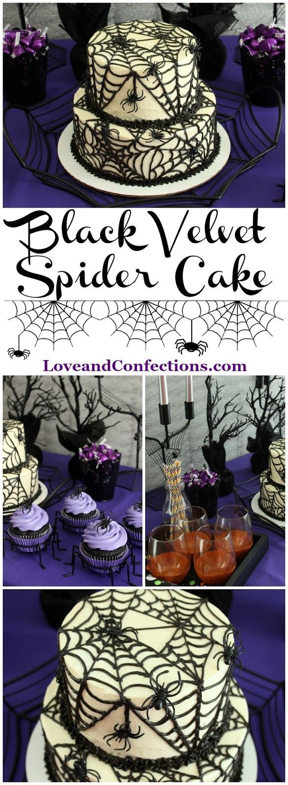 Black Velvet Spider Cake from LoveandConfections.com for #SundaySupper with @dixiecrystals