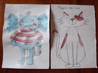 A Pretty Talent Blog: School Holiday Project: Draw & Paint Tippie & His Cat