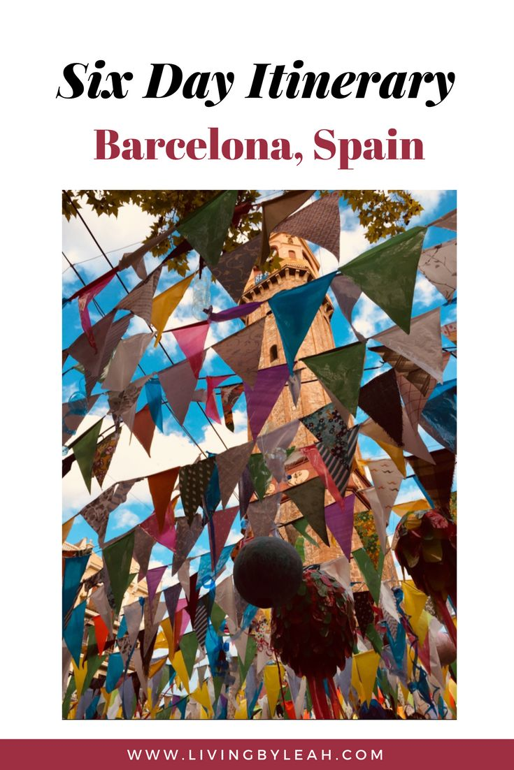 Six day itinerary in Barcelona, Spain. Includes day trips to Montserrat, Sitges (Freixenet and Bacardi Museum), Baga, Spain, Mont-Louis, France, and Andorra. Also on the itinerary are Sagrada Familia, Las Ramblas, Park Gruell, Festes de Gracia, and more.