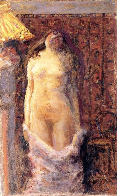 Nude with Lamp - Pierre Bonnard , c. 1900 French, 1867 - 1947 Oil on canvas,