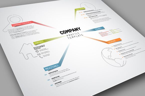 Vector Company Profile Template by Orson on Creative Market