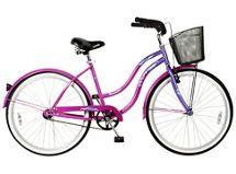 Bicicleta Paseo Mujer Beach Cruiser Aro 26 Violeta Lahsen $105.900