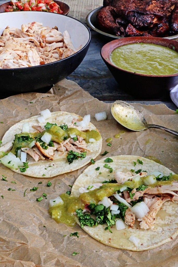 SMOKED CHICKEN TACOS WITH SALSA VERDE Ever wondered how to make smoked ...