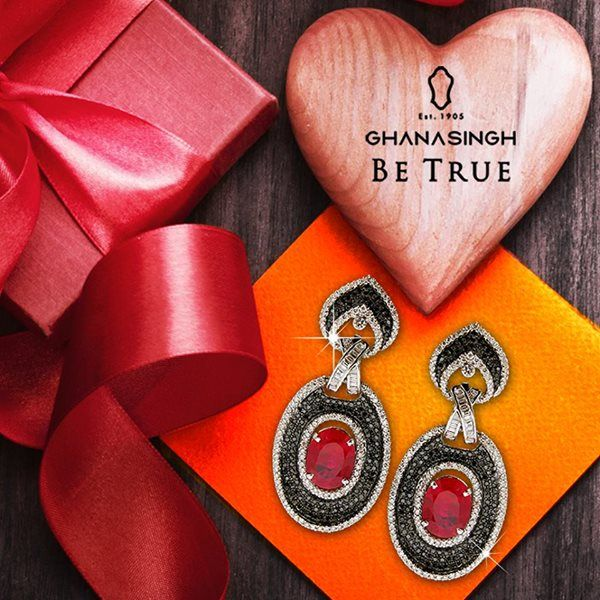 Sophisticated & elegant - don a dazzling new look with this impressive #earring from Ghanasingh Be True 'On The Rocks' Collection! #Jewellery #Fashion